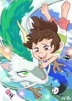 Studio Ghibli: Spirited Away Art Card by kevinbolk