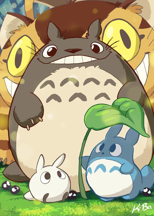 Studio Ghibli: My Neighbor Totoro Art Card by kevinbolk