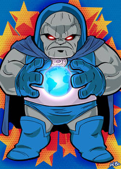Super Powers Darkseid Art Card by K-Bo. by kevinbolk