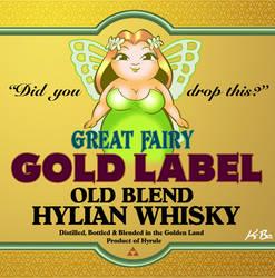Legend of Zelda Link to the Past Liquor Label by kevinbolk