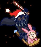 Santa Vader and Ralphie by kevinbolk