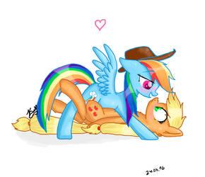 Rainbow Dash and Applejack by Katarina-Dash