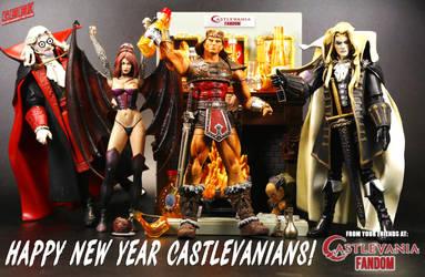 Happy New Year from Castlevania by hunterknightcustoms