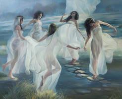 The Moon Clambers by selma-todorova