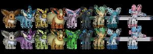 Pokemon X/Y - Eeveelution pack by o0DemonBoy0o