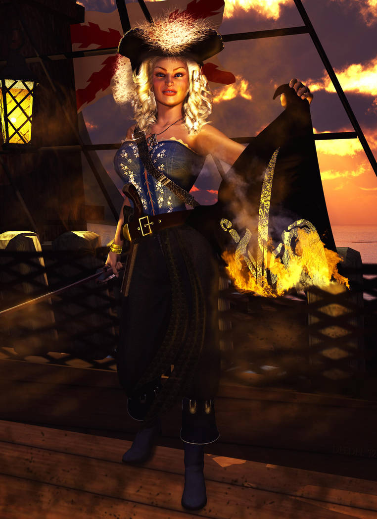Pirate's Death_Gloria Rey by RayNoir