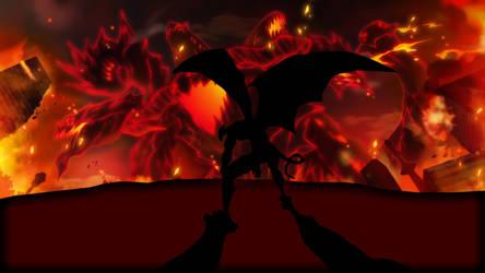 Devilman vs The Black Beast by EpicLinkSam