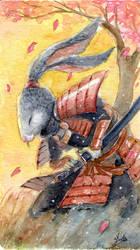 Samurai rabbit by Acualina