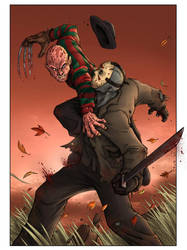 Freddy vs Jason Colors by TPollockJR