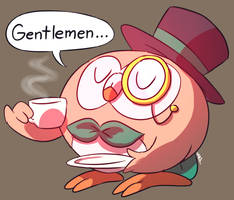 Fancy Rowlet by MAST3R-RAINB0W