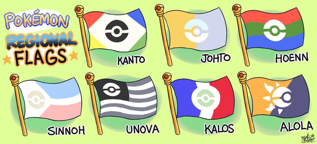 Pokemon Main Series Regional Flags (Fanmade) by MAST3R-RAINB0W