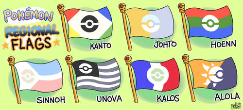 Pokemon Main Series Regional Flags (Fanmade) by MAST3R-RAINB0W