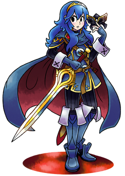 ''Mario+Luigi'' RPG Style: Lucina (Fire Emblem) by MAST3R-RAINB0W