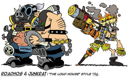 [MM] ''LOUD HOUSE'' Style: Roadhog and Junkrat by MAST3R-RAINB0W