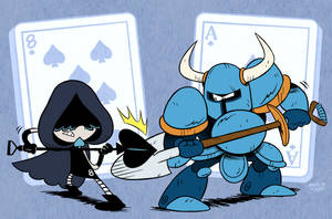 The Eight of Spades VS. The ACE of Spades by MAST3R-RAINB0W