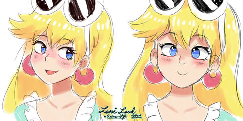 Leni Loud - [Anime-Styled Head Sketch] by MAST3R-RAINB0W