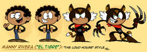 ''LOUD HOUSE'' Style: Manny Rivera [EL TIGRE] by MAST3R-RAINB0W