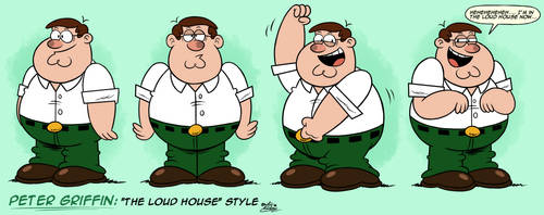 ''LOUD HOUSE'' Style: Peter Griffin (Family Guy) by MAST3R-RAINB0W