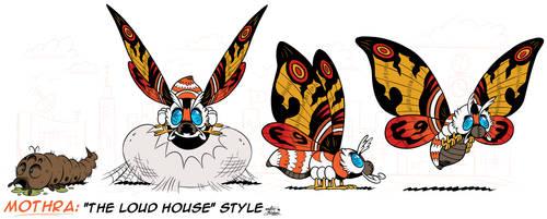 [MM] ''LOUD HOUSE'' Style: MOTHRA (Kaiju) + Larva! by Mast3r-Rainb0w