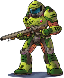 [MM] ''M+L'' RPG Style: Doomguy (2016 Version) by MAST3R-RAINB0W