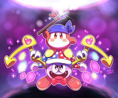 Bandana Waddle Dee and Marx TEAM UP! by MAST3R-RAINB0W