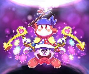 Bandana Waddle Dee and Marx TEAM UP! by MAST3R-RAINB0W