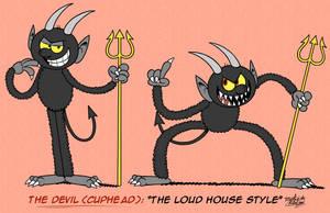 [MM] 'LOUD HOUSE' Style: The Devil (CUPHEAD) by MAST3R-RAINB0W
