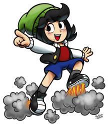 [MM] 'Mario and Luigi' RPG Style: Jett [OC] by MAST3R-RAINB0W