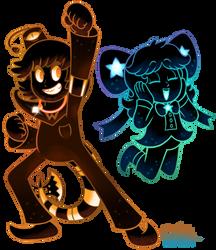 [MM] 'Mario+Luigi' RPG Style: Waffle + Cosmo [OCs] by MAST3R-RAINB0W
