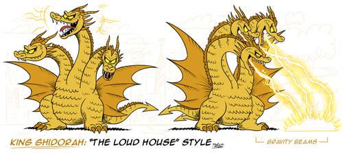 [MM] ''LOUD HOUSE'' Style: King Ghidorah (Kaiju) by MAST3R-RAINB0W