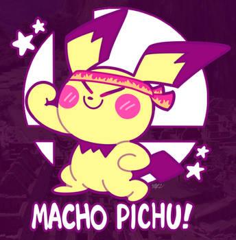 It's MACHO PICHU! by MAST3R-RAINB0W