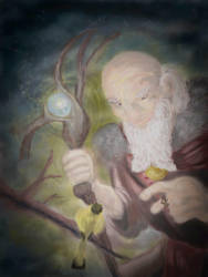 Radagast and the canary by texacutioner