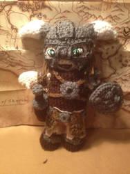 Skyrim Dragonborn Dovahkiin Crochet Doll by alillama88
