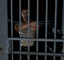 Caged Wolfie by renderscot
