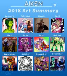 2018 Art Summary by AikenLugiA