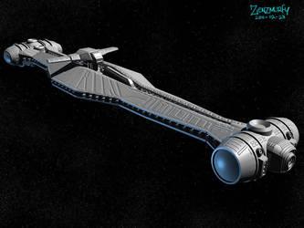 Light Cruiser 3D by zenzmurfy