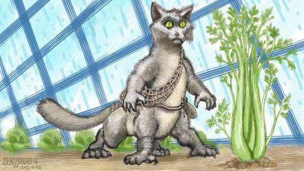 Celery Stalker - treecat concept pic 5 by zenzmurfy