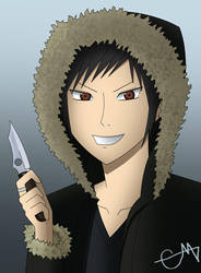 Hood Izaya by CrimsonMayhem
