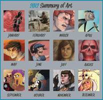 Art Summary 2012 by ADDICT-Se