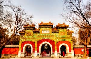 Beijing Wofo Temple Glazed Arch by davidmcb