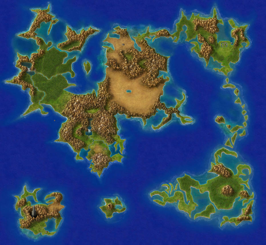 Final Fantasy IV   Overworld by Elemental79 on DeviantArt