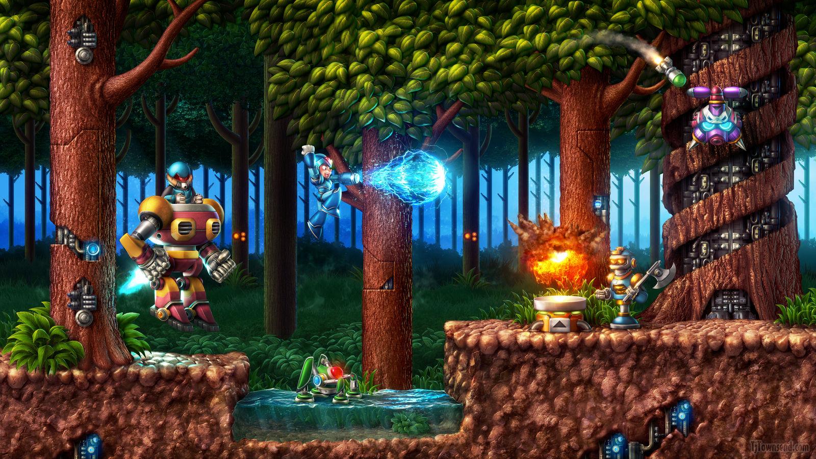Mega Man X - Sting Chameleon's Stage by Elemental79