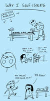 Fast comics: Self isolation by RomanJones
