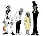 Josephine Mink early character designs by RomanJones