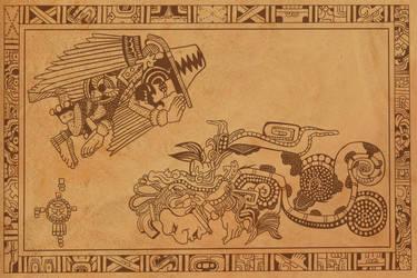 Patreon: Randy Savage Elbow Dives Mayan God by RomanJones