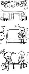 Fast Comics: Bus Reading by RomanJones