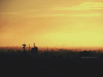 silhouette of the city by noohohIcant