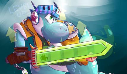 Arcade Yoshi by FirewolfNightNight