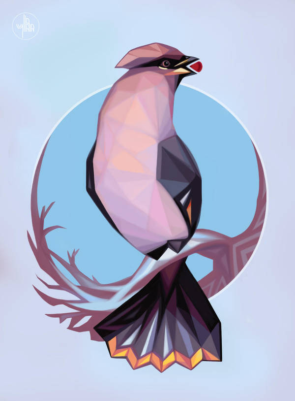 Winter Waxwing by Yullapa