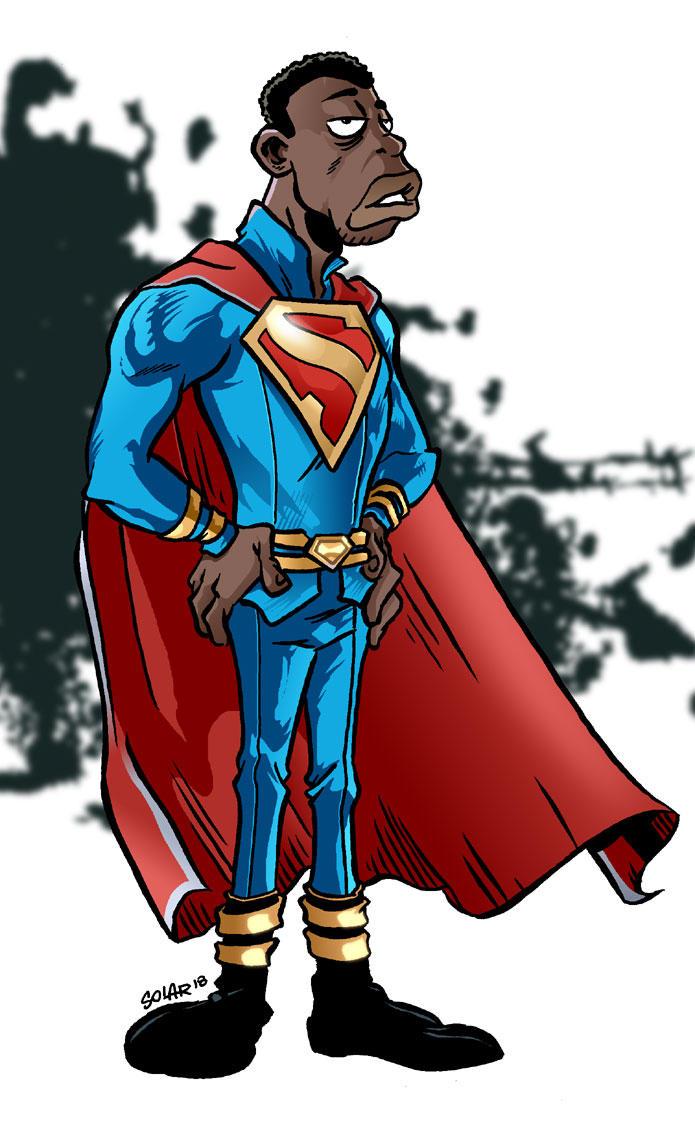 Superman-black by Solarjavier